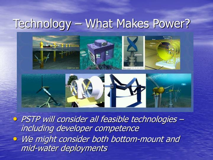 Technology – What Makes Power?