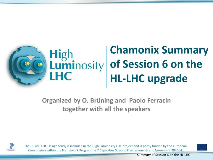chamonix summary of session 6 on the hl lhc upgrade n.
