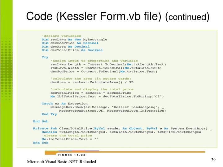 Code (Kessler Form.vb file) (