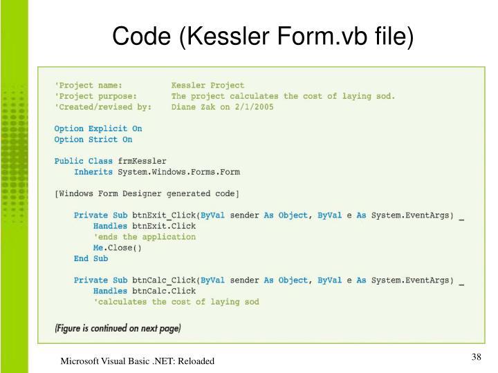 Code (Kessler Form.vb file)