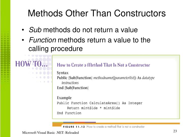 Methods Other Than Constructors