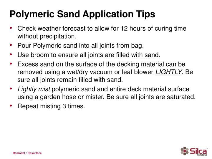 Polymeric Sand Application Tips