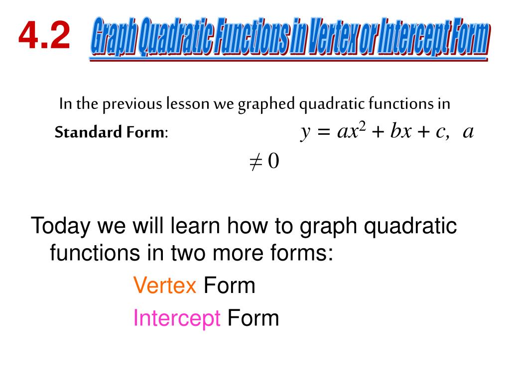 PPT - Graph each function. Label the vertex and axis of ...