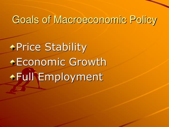 Goals of macroeconomic policy