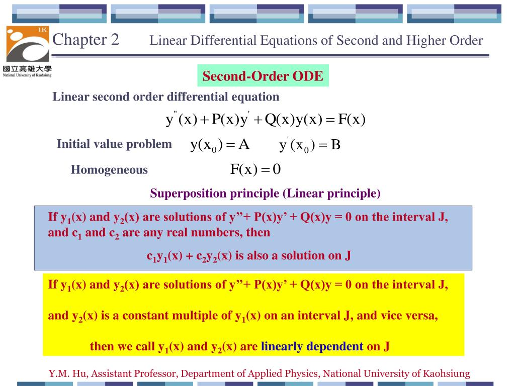 Ppt Chapter 2 Linear Differential Equations Of Second And Higher Solve This Order Equation For A Rlc Series Circuit Powerpoint Presentation Id5577927