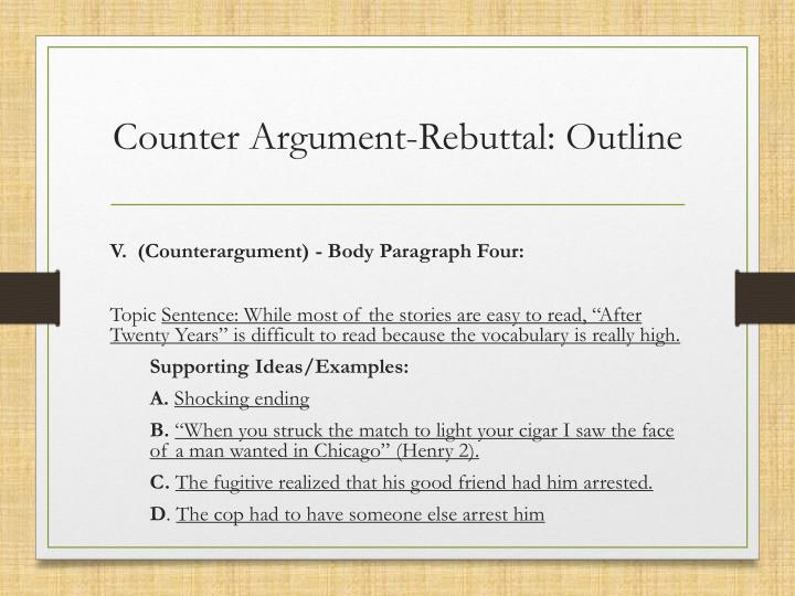 rebuttal outline