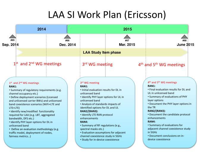 LAA SI Work Plan (Ericsson)