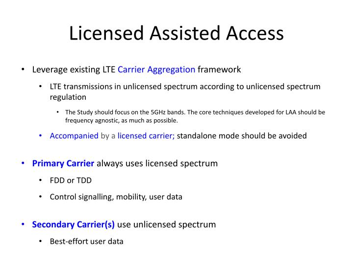 Licensed Assisted Access