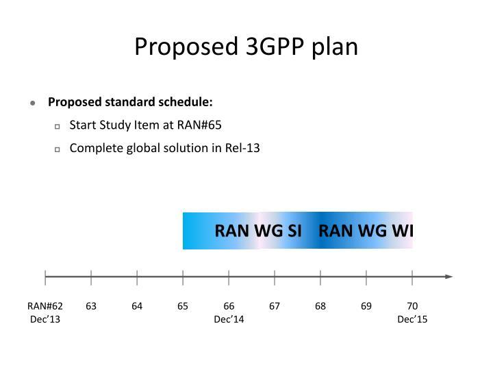 Proposed 3GPP plan