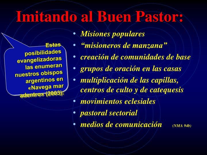 Imitando al Buen Pastor: