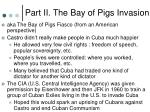 part ii the bay of pigs invasion