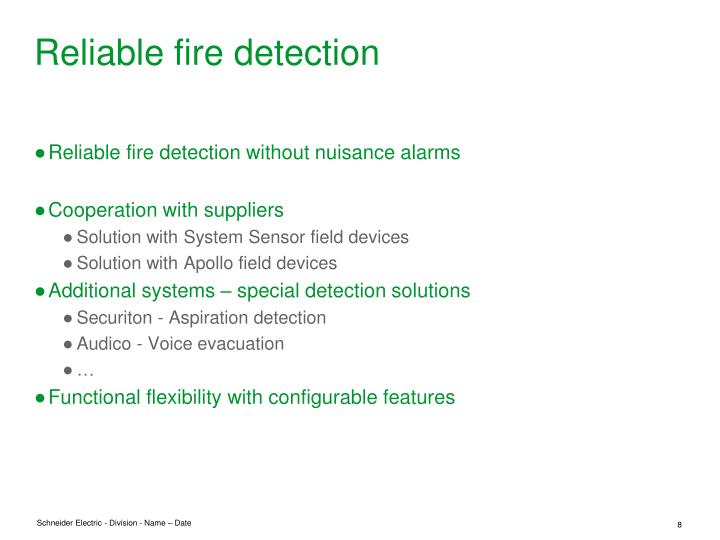 Reliable fire detection