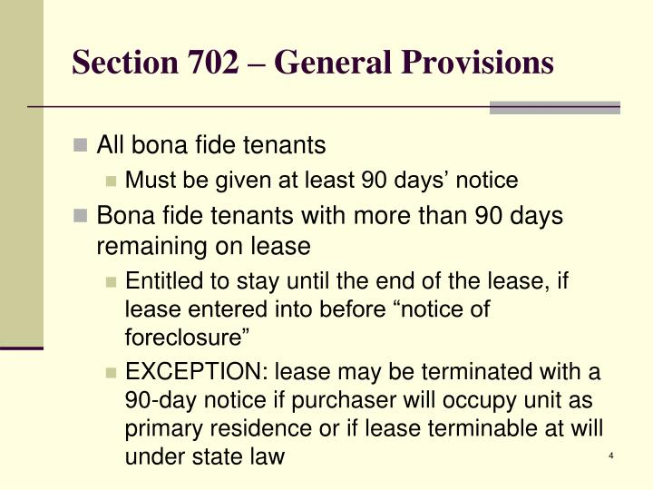 Section 702 – General Provisions