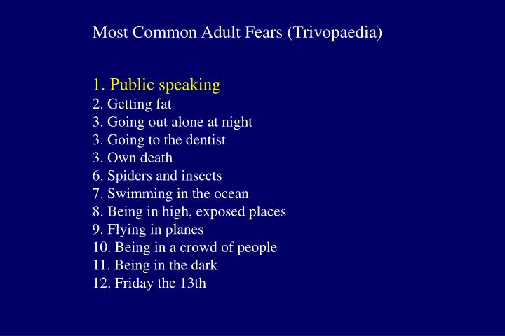 Most Common Adult Fears (Trivopaedia)