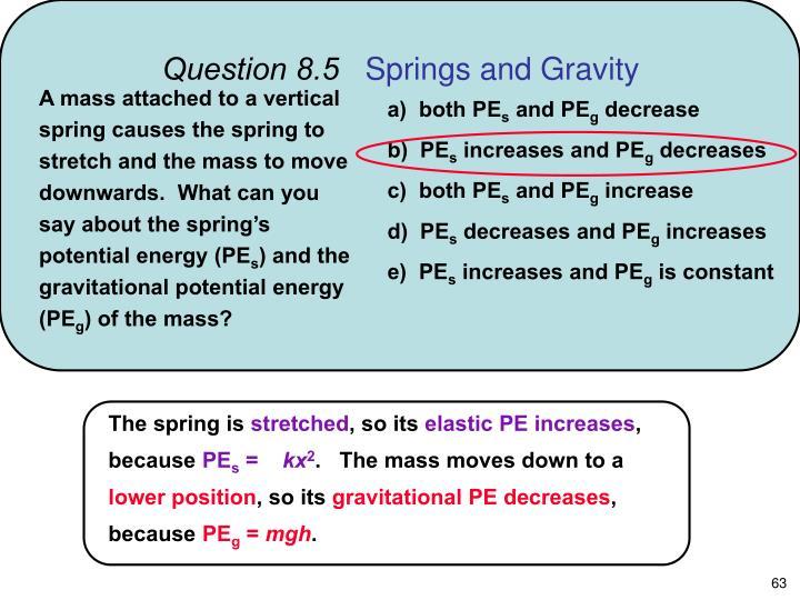 Question 8.5
