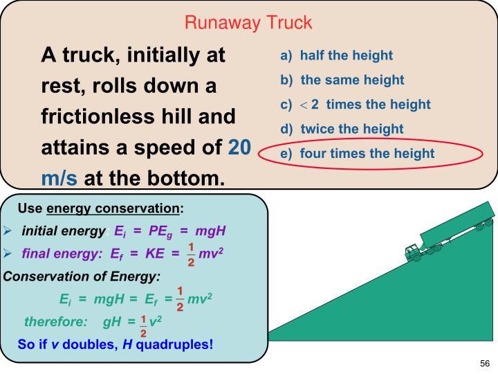 Runaway Truck