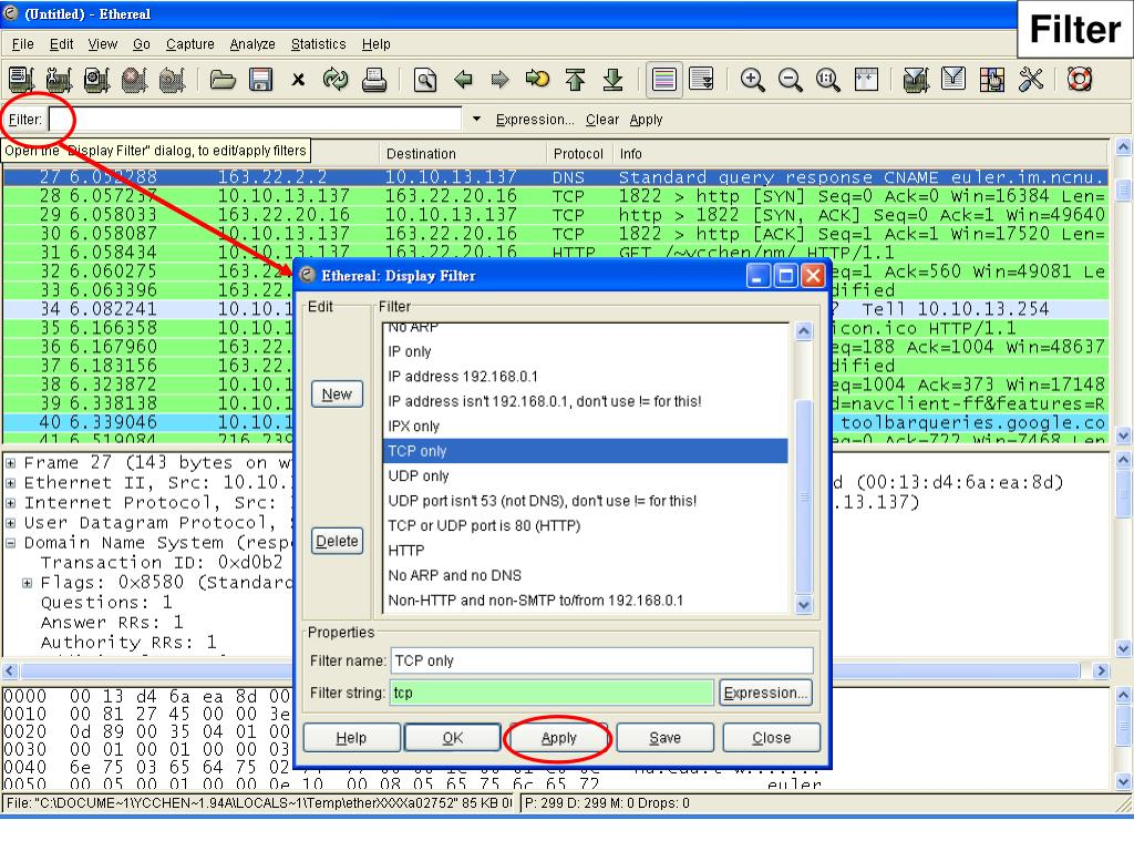 PPT - Ethereal/WireShark Tutorial PowerPoint Presentation