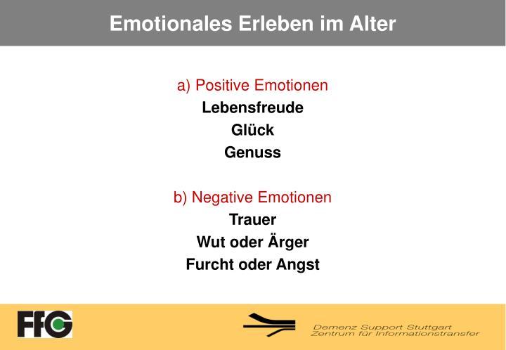 Emotionales Erleben im Alter