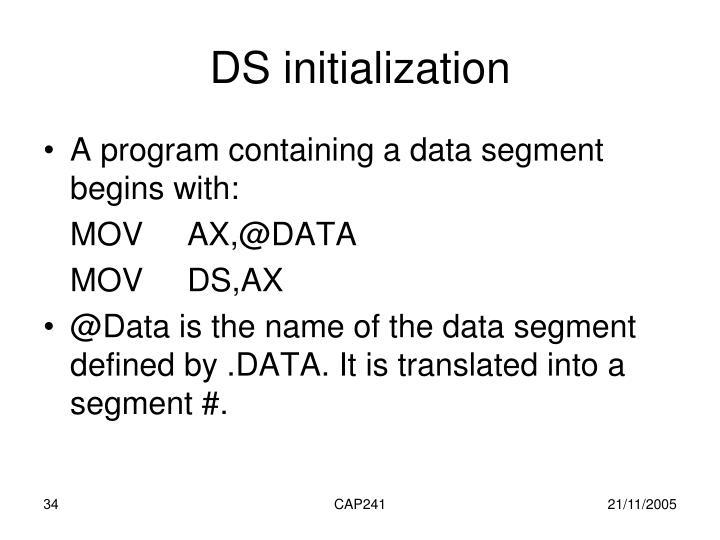 DS initialization