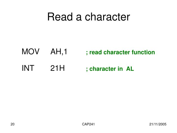 Read a character