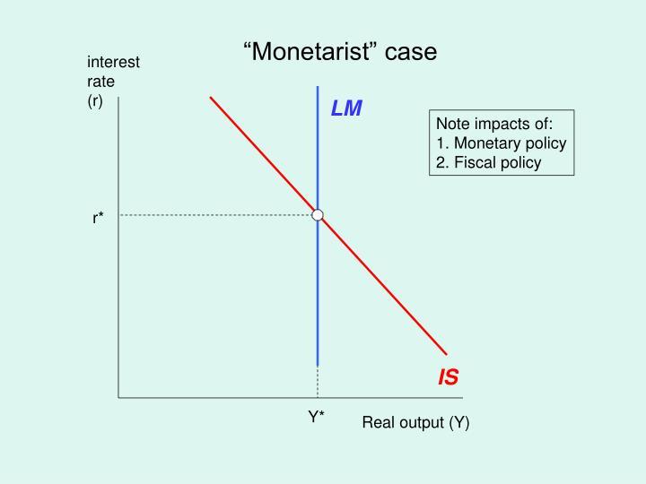 """Monetarist"" case"