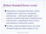 robust standard errors cont