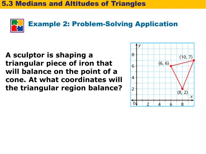 lesson 5 3 problem solving medians and altitudes of triangles