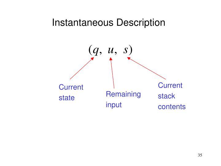 Instantaneous Description