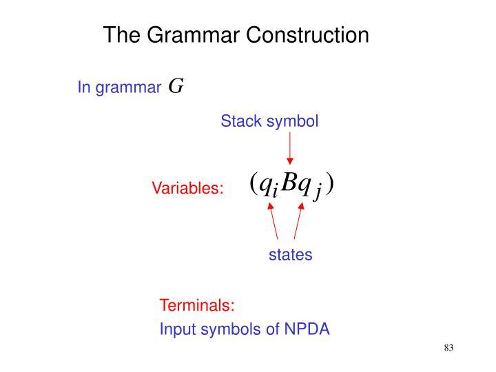 The Grammar Construction
