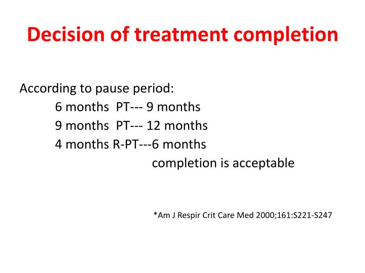 Decision of treatment completion