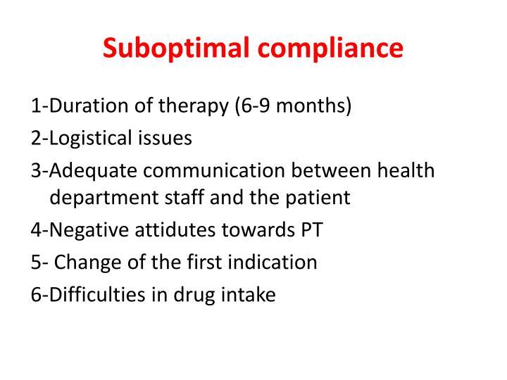 Suboptimal compliance