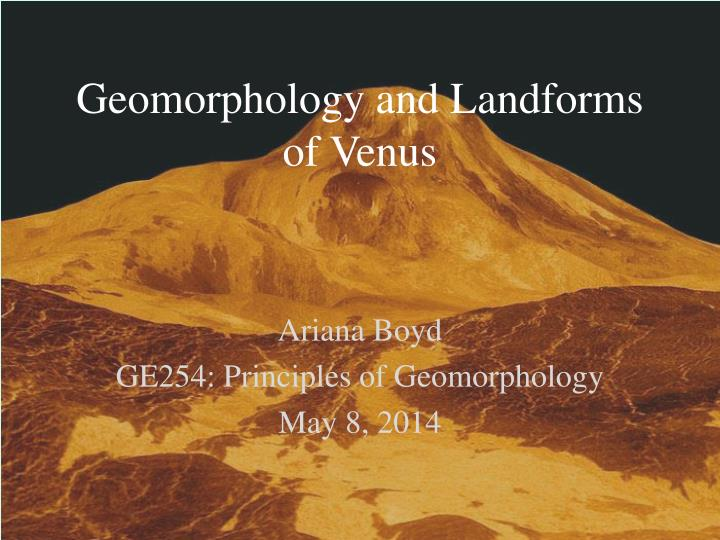 Ppt Geomorphology And Landforms Of Venus Powerpoint Presentation