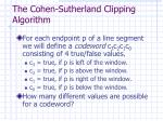 the cohen sutherland clipping algorithm1