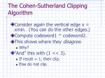 the cohen sutherland clipping algorithm14