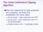 the cohen sutherland clipping algorithm4