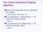 the cohen sutherland clipping algorithm5