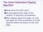 the cohen sutherland clipping algorithm6