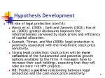 hypothesis development1