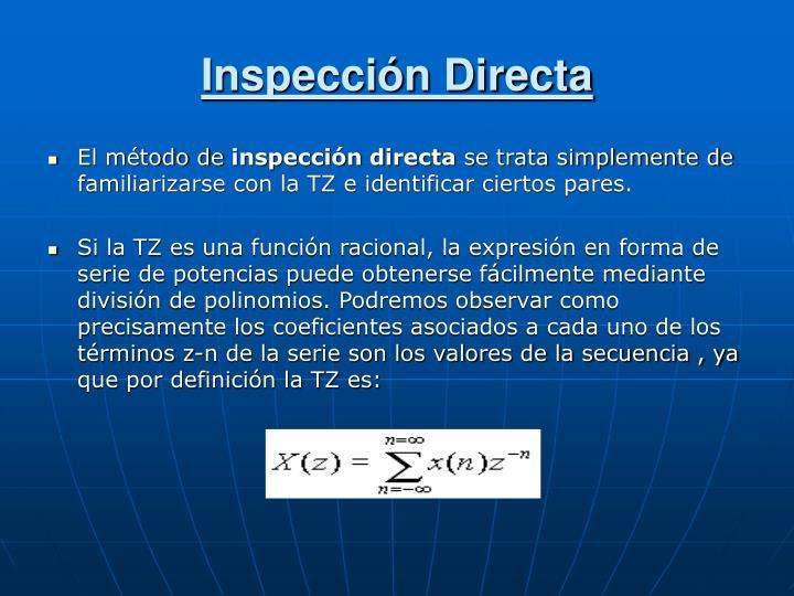 Inspección Directa