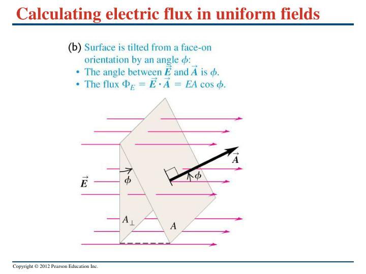 Calculating electric flux in uniform fields