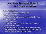 lead safe responsibilities if 1 3 snas in pattern