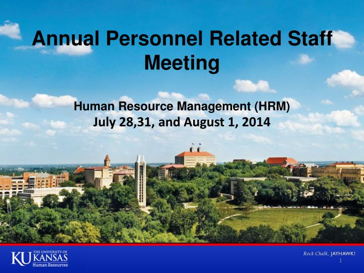 annual personnel related staff meeting n.