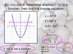 ex f x 2x 2 4 determine whether f 1 x is a function then find the inverse equation