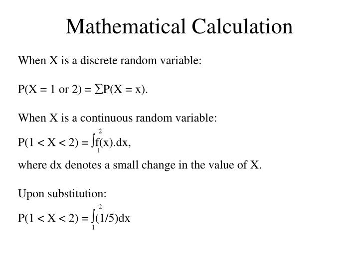 Mathematical Calculation