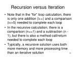 recursion versus iteration5