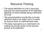 recursive thinking1