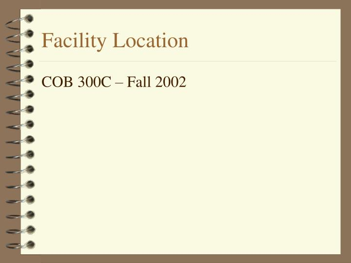 facility location n.