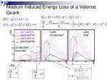 medium induced energy loss of a valence quark