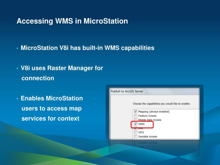 Accessing WMS in MicroStation
