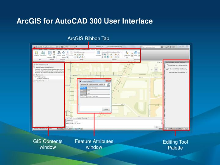 ArcGIS for AutoCAD 300 User Interface